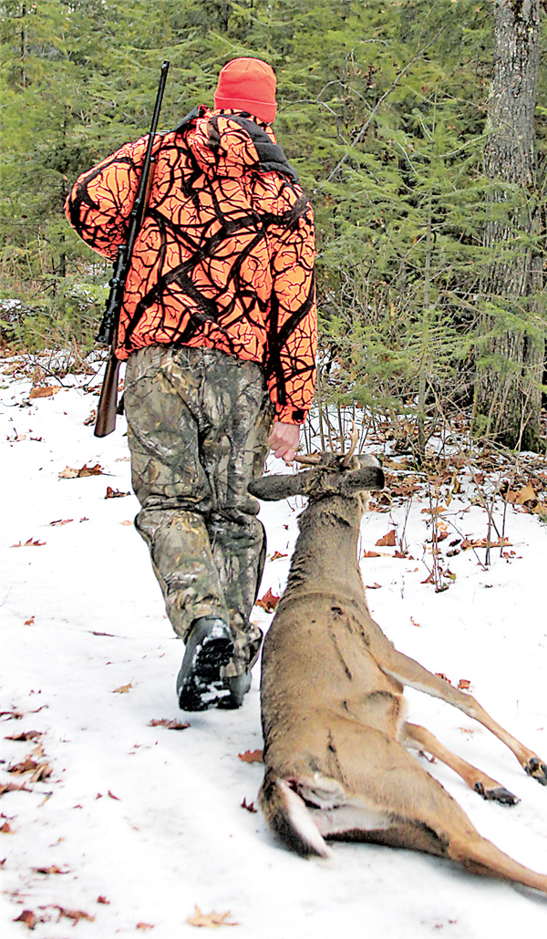 Snow would help hunters in dragging a buck.